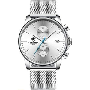 Men's Watches Fashion Sport Quartz Analog Silver